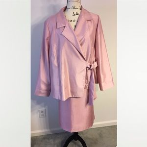 Cato pink skirt suit 20W
